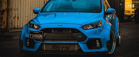 Blue Ford Focus RS With Fortune Flares Body Kit Is an