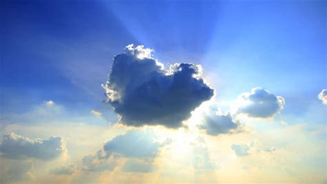 Sun Behind the Clouds On Stock Footage Video (100% Royalty