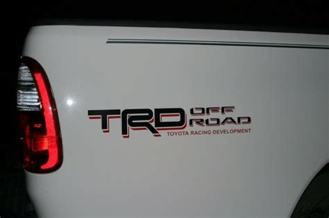 Toyota Tundra TRD Off-Road bedside decal BLACK/RED PT211