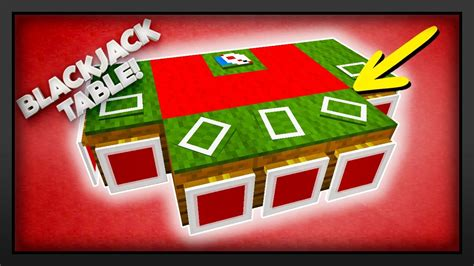 Minecraft - How To Make A Blackjack Table - YouTube