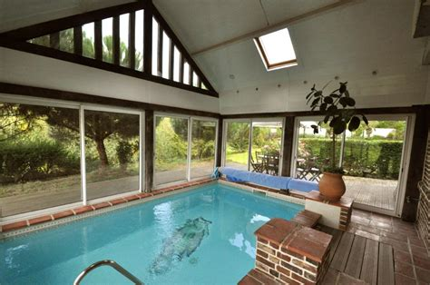 Nice cottage with swimming pool inside house