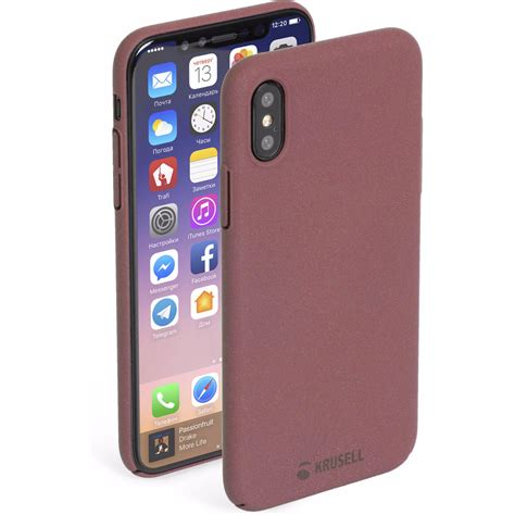 (tip) Krusell Sandby Apple iPhone X Back Cover Rood kopen