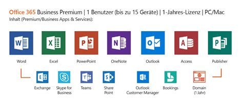 Microsoft Office 365 Business Std 1 year/ 1 user / 5 devices
