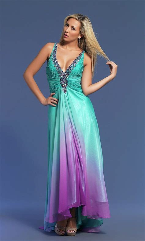 This one?   Teal bridesmaid dresses, Ombre bridesmaid