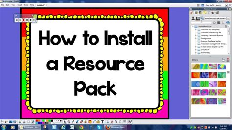 How to Install a Resource Pack in Promethean ActivInspire